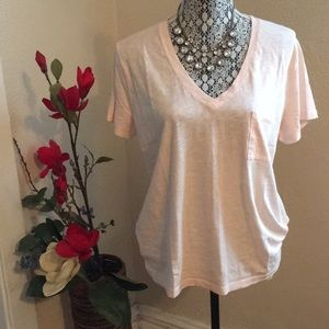 Madewell V Neck cotton tee with pocket